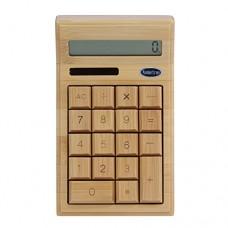 Koolertron 12 Digitals Solar Powered Bamboo Environmentally Friendly Calculator