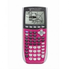 Texas Instruments TI-84 Plus C Silver Edition Graphing Calculator, Full Color Display, Includes Dummies Manual, Dark Pink