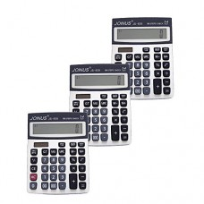 Pack of 3, JOINUS JS-839 Dual Power 12 Digit Calculator