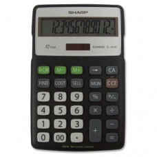Sharp Electroinics ELR287BBK 12-Digit Recycled Plastic Cabinet Calculator - Black