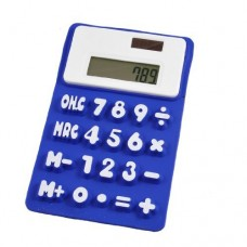 Dimart Silicone Magnetic Fridge Sticker 8 Digits Calculator, Royal Blue/White