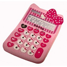 Hello Kitty Pink Ribbon Solar Powered Calculator