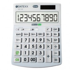 Datexx DD-740 Hybrid Power 10 Digit Desktop Calculator