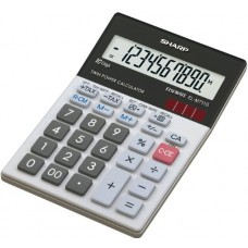 Sharp El-M711Ggy Desktop Calculator 10-Digit Display Glass Design