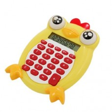 Dimart Chicken Animal Plastic 8 Digits Electronic Calculator Yellow