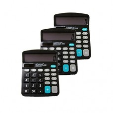 Pack of 3, JOINUS JS-837 Dual Power 12 Digit Calculator