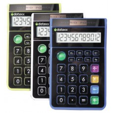Teledex Inc DD-612 Hybrid Desk 8 Digit Calculator Assorted Colors