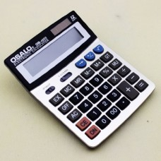 OSALO OS-4600 Two Way power solar electronic calculator with extra large display and high plastic in the metal faceplate