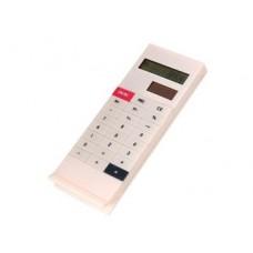 Solar Powdered Clip Design White Office Calculator