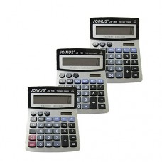 Pack of 3, JOINUS JS-766 Dual Power 12 Digit Calculator