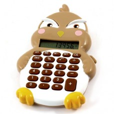 White Brown Plastic Case 8 Digits LCD Display Electronic Calculator