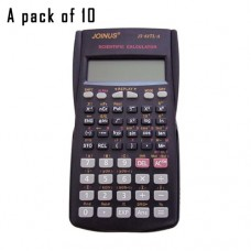 Pack of 10, JOINUS JS-82TL-A 10 Digit And 2-Line Scientific Calculator