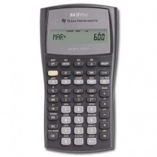 Texas Instruments BAIIPLUS Financial Calculator - 1 Line(s) - 10 Character(s) - LCD - Battery Powered