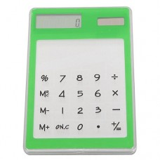 Transparent Solar Touch Screen LCD Calculator 8 Digit Electronic Keypad Multi-Color Choice