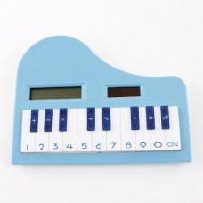 Dimart Children Soft Rubber Keypad 8 Digits LCD Piano Electronic Calculator White Blue