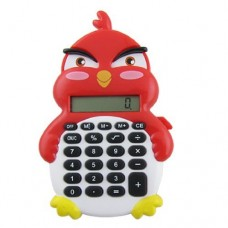 Dimart Plastic Keypad 8 Digits Duck Design Electronic Calculator, Red