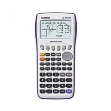 Casio Graphing Calculator with large 21-character x 8-line display with dual screen capability. 62K RAM with USB - White