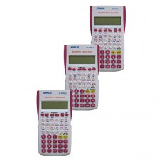 Pack of 3, JOINUS JS-82TL-2 10 Digit And 2-Line Scientific Calculator-White