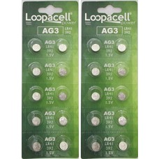 LOOPACELL AG3 LR41 392 1.5V Alkaline Watch Battery x 20