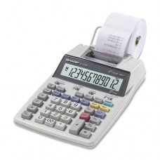 """Sharp El1750v Printing Calculator . 2 Line(S) . 12 Character(S) . Lcd . Battery, Power Adapter Powered . White """"Product Type: Office Equipment/Calculators"""""""