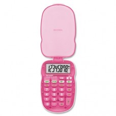 Sharp EL-S10BPK 8 Digit Bright Pink Pocket Calculator with Protective Case