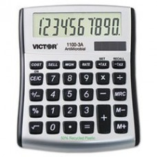 - 1100-3A Antimicrobial Compact Desktop Calculator, 10-Digit LCD