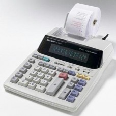 """Sharp Electronics Products - 12-Digit Calculator, 2-Color Printing, 7-1/2""""x10-1/4""""x2-1/2"""" - Sold as 1 EA - Calculator features a large easy-to-read 12-digit blue fluorescent display. Prints 2.1 lines per second. Other features include two-color serial pri"""