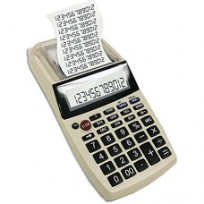 Palm-Sized Printing Calculator with Adaptor - Taxes, Expense Reports & More
