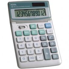 Royal XE72 Calculator with 12 Digit Tiltable Display, Solar and Battery Power