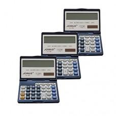 Pack of 3, JOINUS JS-756 Dual Power 14 Digit Calculator