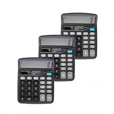 Pack of 3, JOINUS JS-713 Dual Power 14 Digit Calculator