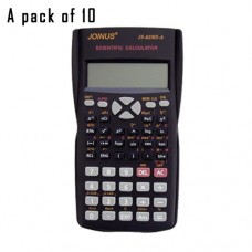 Pack of 10, JOINUS JS-82MS-A 10 Digit And 2-Line Scientific Calculator