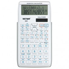 Victor 940 10 Digit Advanced Scientific Calculator with 2 Line Display, White