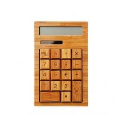Solar Calculator Bamboo Environmentally Friendly