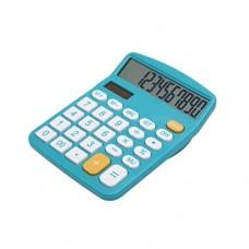 Calculator, Hi-tech Electronic Desktop Calculator with 12 Digit Large Display, Solar Power LCD Display Office Calculator (Blue)