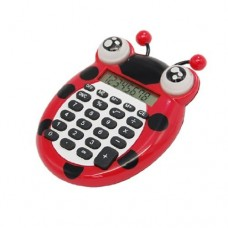 Dimart Plastic Portable 8 Digits Electronic Calculator, Red/Black