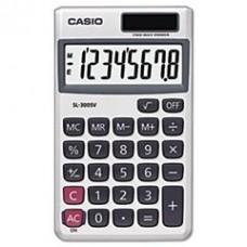 - SL-300SV Handheld Calculator, 8-Digit LCD