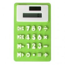 SODIAL(R) Creative Solar Power 8 Digit Silicone Pocket Calculator Green Office Stationery