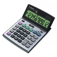 BS-1200TS Desktop Calculator, 12-Digit LCD Display, Black/Silver