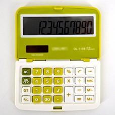 CLARA Students Foldable Calculator Portable Pocket Calculator Large LCD Display Calculator(Green)