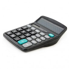 MyLifeUNIT Electronic Desktop Calculator with 12-digit Large Display, Solar and AA Battery Dual Power