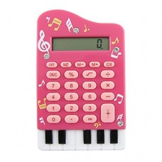Dimart Silicone Keypad Piano Shape 8 Digits LCD Display Calculator, Deep Pink