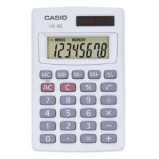 Casio HS-4GS Basic Handheld Calculator HS-4GS Pack Of 10