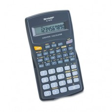 Sharp Products - Sharp - EL-501WBBK Scientific Calculator, 10-Digit LCD - Sold As 1 Each - Performs more than 130 scientific and math functions. - Ideal for students studying general math, pre-algebra, algebra and trigonometry. - Hard cover protects calcu
